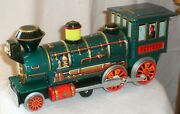 Working Trade Mark Toys Battery Operated Tin Western Special Locomotive W/box