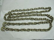 1/2 X 20and039 G70 Truck Tie Down Binder Chain Transport Chain Tow Chain W Grab Hook