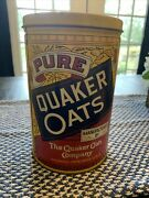 Vintage 1984 Quaker Oats Tin Can Lid Limited Edition Rolled White Free Shipping