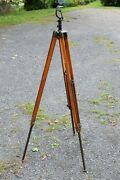 Antique Spotting Scope Tripod Wwii Military Nice Original Possible Lamp Base