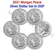 2021 Morgan And Peace Dollar 6 Coin Set Cc O D S P Live In Hand Ready To Ship