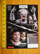 Predator Mask Print Ad Clipping Leatherface Horror Distortions Halloween
