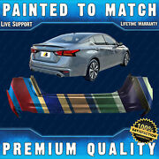 New Painted To Match Rear Bumper Cover Fascia For 2019-2021 Nissan Altima W/park
