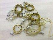 20 Faller 670 House Lamps W. Long Wire For Z / N / H0 Train Layout