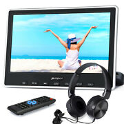 10.1 Slot-in Car Monitor Portable Dvd Player Tv Hdmi Usb Sd Av In Out+headsets
