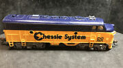 Ho Chessie Diesel Locomotive Runs Great Knuckle Couplers Lot Gg60