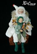 Genuine Ooak 18 Norma Decamp Seated Santa Claus W/ Toys And Elf Come See