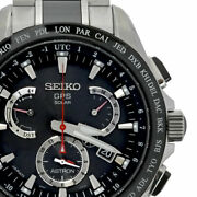 Seiko Astron 8x Series Dual Time Wristwatch From Japan N0909