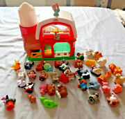 Fisher Little People Farm Barn Works With Batteries Animals People Lot