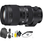 Sigma 50-100mm F/1.8 Dc Hsm Art Lens For Nikon F + Deluxe Lens Cleaning Kit