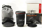 2522 [special] Canon Wide-angle Zoom Lens Ef16-35mm F2.8l Ii Usm Full Size Compa