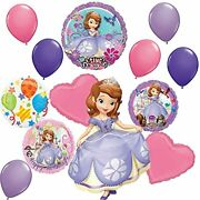 Sofia The First Party Supplies Sing-a-tune Birthday Balloon Bouquet Decorations