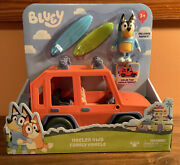 Bluey Heeler 4wd Family Vehicle Car Includes Bandit Figure And 2 Surf Boards Htf