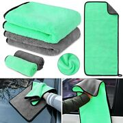 Quick Drying Extra Thick Rags Softer Absorbent Car Cleaning Towels Green Ca