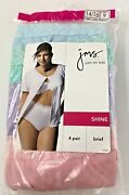 Ladies Just My Size Package Of 4 Pair White 100 Nylon Shine Briefs Size 9 - Nip