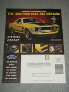 1990's Franklin Mint 2-page Print Ad 1969 Ford Mustang And Colt .45 Pocket Knife