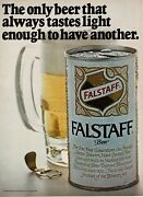 1970 Falstaff Beer Tastes Light Enough To Have Another Vintage Print Ad