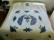 Amish Quilt For Sale Country Peacocks Amish Applique Quilt New Amish Queen Quilt