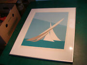 Franco Costa Signed Americaand039s Cup 1980 1 Beautiful Framed Serigraph 24 Of 295