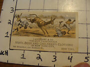 Original Vintage Trade Card Langsdorf And Co. Mens Boys And Childrens Clothing Ny