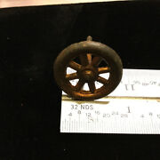 Vintage Toys Wilkins Hubley Ives Kenton Cast Iron Parts - Wheel 7/8 And Axle