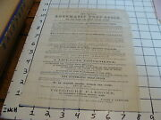 Vintage Early Paper 1800and039s Automatic Prop-stick For Piano Single Sided Ad Sheet