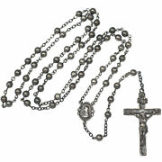 Vintage Art Deco Era Swift And Fisher All Sterling Silver 5 Decade Rosary Beads