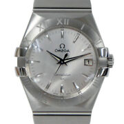 Wrist Watch Omega Constellation 123.10.35.60.02.001 Menand039s Analog Silver Used
