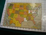 Vintage Puzzle Small Outline Map Of United States From Milton Bradley, -3 Piec