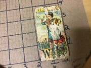Original Wood And Paper Litho Block - Double Sided - W And K - Wishing And Kity