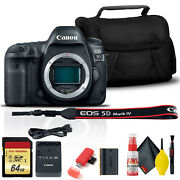 Canon Eos 5d Mark Iv Dslr Camera 1483c002 With 64gb Memory Card, Case,
