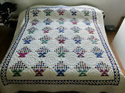 Rare Amish Handmade Quilt For Sale Cathedral Windows Amish King Or Queen Quilt