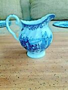 Johnson Brothers Coaching Scenes Blue Ironstone Hunting Country Creamer Pitcher