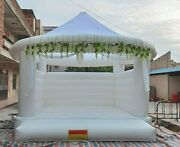 11ft Inflatable White Bounce House Wedding Bouncer Castle With Air Blower New