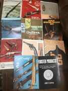 Lot Of Vintage Firearms Ammo Etc Catalogs Marlin Navy Simmons Outers Etc