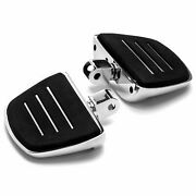 Aluminum Rubber Padded Chrome Mini Floor Boards Foot Rests For Honda Motorcycles