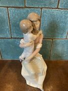 """Lladro 11"""" A Mother's Love Porcelain Figurine Mom And Child 6634 Signed"""