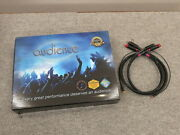 Audience Au24 Sx Phono Low Z Rca-rca 1.0m Pair Tube Cleaner Cord Cable Av Audio