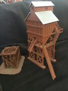 Ho Scale Industrial Tower Grain Elevator Built Plus Water Tower Stand