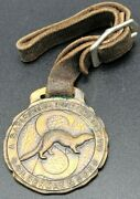 Antique Watch Fob S. Silberman And Sons Fur Shippers Chicago Mink Trap Trapping