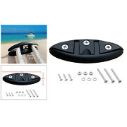 130mm Nylon Flip Up Pull Up Cleat Deck Kayak Hardwares W/ Fasteners 130x49mm