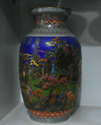 20 Old Chinese Famille Rose Porcelain Mountain Water House Figure Bottle Vase