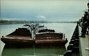 Port Of Muskogee Oklahoma Barge Steel Pipe For Oil And Gas Industry Postcard