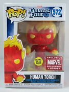 Marvel Funko Pop - Human Torch Glow -fantastic Four - Collector Corp - No. 572