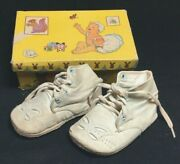 Antique 1931 Monarch Co Baby Shoes In Box With Great Graphics Animals Vtg Toys