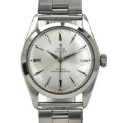 Tudor Oyster 7934 Manual Winding Antique Stainless Silver Dial Wristwatch[u0912]