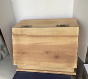 Vintage Wooden Bread Box Farmhouse Style Hand Made By Frank Ratcliffe And Signed