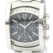 Polished Bvlgari Assioma Chronoragph Steel Automatic Mens Watch Aa48sch Bf534574
