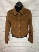 Abercrombie And Fitch Womenand039s Brown Jacket Snap Front Size Xs