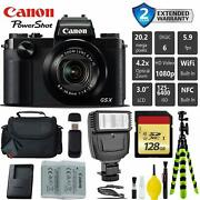 Canon Powershot G5 X 20.2mp Point And Shoot Digital Camera + Extra Battery + Dig